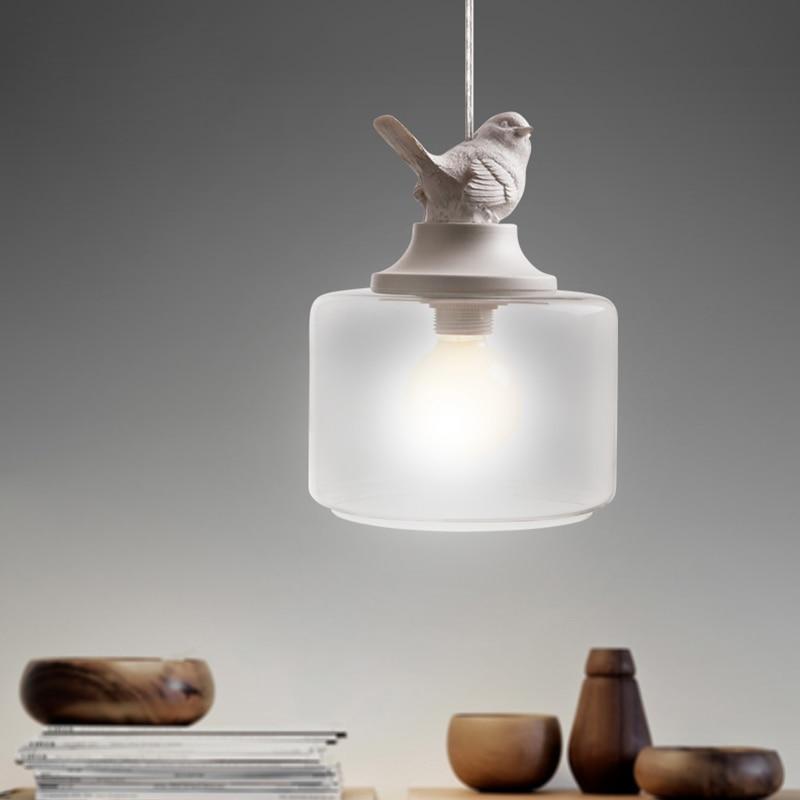 Luces colgantes nórdicas elegantes del pájaro de la resina para la - Iluminación interior - foto 2