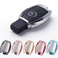 Araba anahtarı durum kabuk TPU koruyucu kapak için anahtar tutucu fit Mercedes Benz A B C sınıfı GLA, C, S, E, GLC, GLK, CLA, ML, GLE sınıf