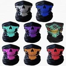 100 шт дизайн черепа многофункциональная Лыжная бандана спортивный мотоцикл Байкерский шарф маски для лица