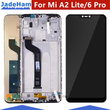 Original 5.84 display LCD+frame For Xiaomi Mi A2 Lite LCD Display Screen Replacement Redmi 6 Pro 2280*1080 Resolution