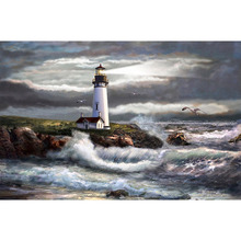 H1618 5d full drill diamond paintings,5d diamond puzzle,5d,full square, diamond painting Lighthouse yikee diamond painting lighthouse 5d diamond painting full drill square 5d diamond k826