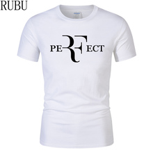 Fashion Roger Federer RF Print T-Shirt 100% Cotton