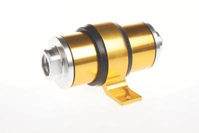 Hliníkový palivový filtr s vysokým průtokem 6 8 10 pro Motorsport Rally Racing + BRACKET Gold