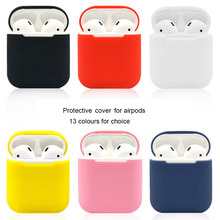 Capas de Silicone À Prova D' Água Para A Apple Caso Protetor Capa Mole Airpods 13 Manga Cores Caixa de Fone De Ouvido