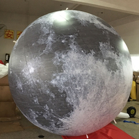 4m Height Led Lighting Gaint Inflatable Big Balloons Earth Globe Moon Air Model Stand Ball Air Balls For Advertising Decoration