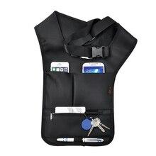 Мужские городские сумки для бега, сумка для велоспорта, черная тактическая Скрытая подмышка, сумка через плечо, для улицы, сумка-мессенджер, противоугонные сумки для мобильного телефона