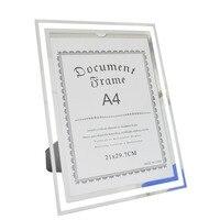 Giftgarden A4 Glass Document Frames Tabletop Certificate Frame Office Decoration Desktop Poster Frames