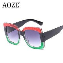 cdc9d68d6c03f3 Aankomst Vrouwen Vierkante Luxe Zonnebril Oversize Unieke Clear Vrouwelijke  zonnebril Brillen Grote 2018 Merk Designer UV400