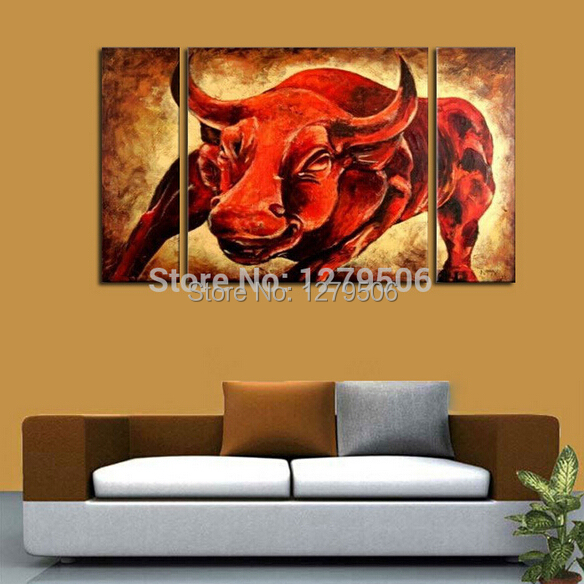 handmade-abstract-art-oil-painting-on-canvas-fontbred-b-font-fontbbull-b-font-for-living-room-decor-