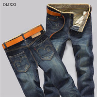 Summer Fashion Long Pants Men S Straight Jeans Striped Slim Jeans Male Retro Moto Famous Brand