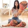 50-80 cm palillo Creativo Juguetes de peluche 3D Impresión jamón Envío de La Gota niños muñeca muñeca de trapo Almohada Cojín Suave