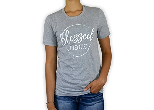 0915b518 BOURNE SOUTHERN Blessed Mama Women's Graphic Printed Fashion T-Shirt Lady  Clothe Printed Tee Shirt