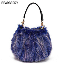 Bearberry 2017 hot sales women fur handbags candy color fashion shell bags for girls shoulder drop shipping MN795