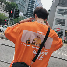 2018 Summer New Korean Printing Full Sleeve T shirt Unlined Garment Male harajuku tops stranger things personality Favourite