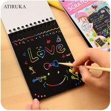 1 шт., скретч-блокнот для детей, креативный, сделай сам, скретч-живопись, красочное граффити, блокнот, креативный, сделай сам, Экологичная головоломка