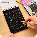 1 шт., детский блокнот для рисования царапин