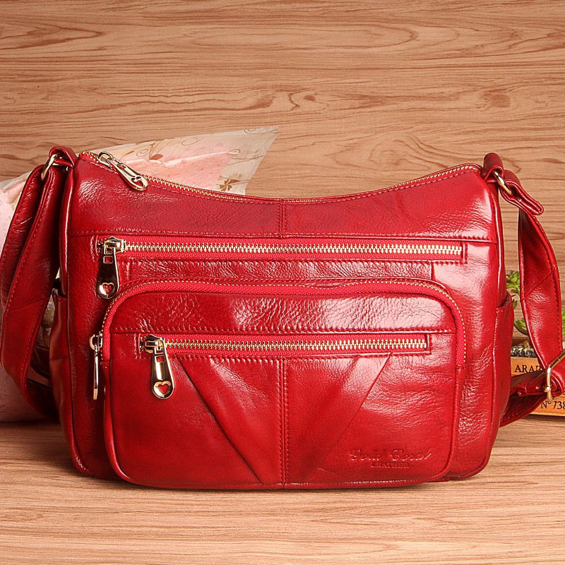 Women Genuine Leather Handbags Fashion Cow Leather Messenger Shoulder Bags Bolsas Feminina High Quality Hobos Bag цены онлайн