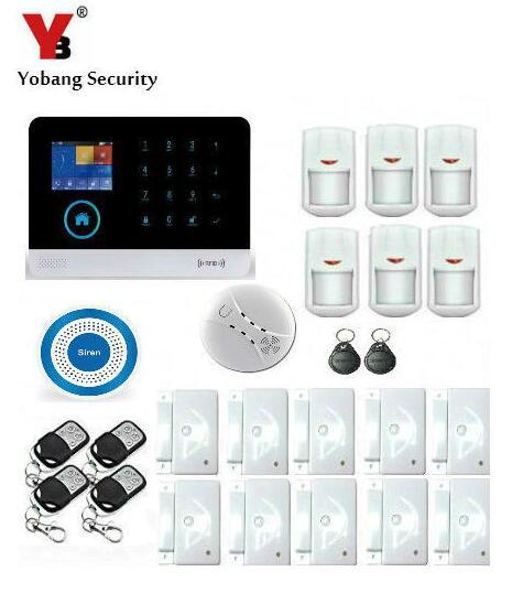 Sicherheit & Schutz KüHn Yobang Sicherheit Wifi 3g Rfid Wireless Smart Home Security Alarm System 3g Alarm Apps Steuer Mit Pir Bewegungssensor Rauch Alarm ZuverläSsige Leistung Alarm System Kits