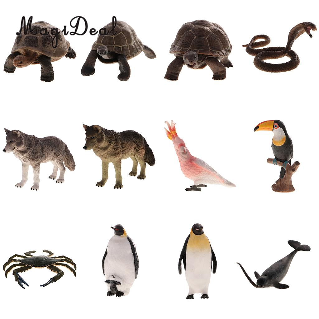 MagiDeal 12 Styles Realistic Animal Model Figurine Action Figures Educational Toy -Home/Garden Decor Gift ...