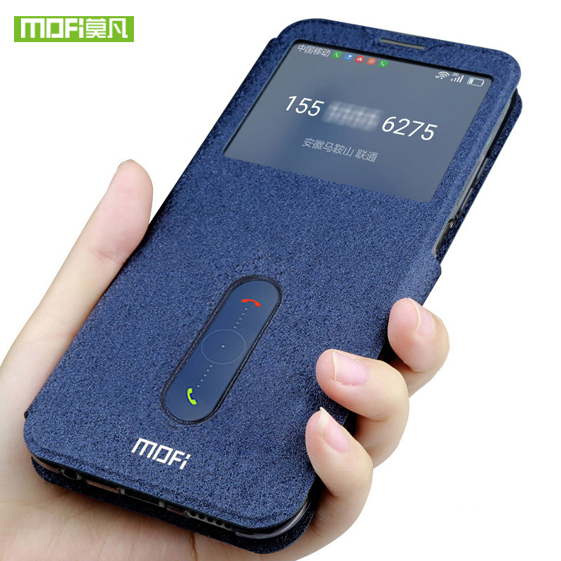 Mofi for Xiaomi mi8 case mi 8 lite cover SE silicone flip protective leather Mi8
