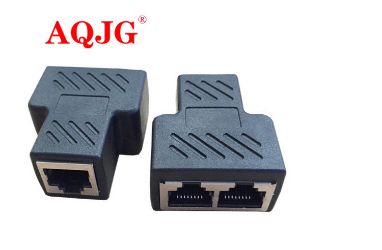 STP UTP Cat6 RJ45 8P8C Stecker Auf Dual RJ45 Splitter Netzwerk Ethernet Patchkabel Adapter AQJG