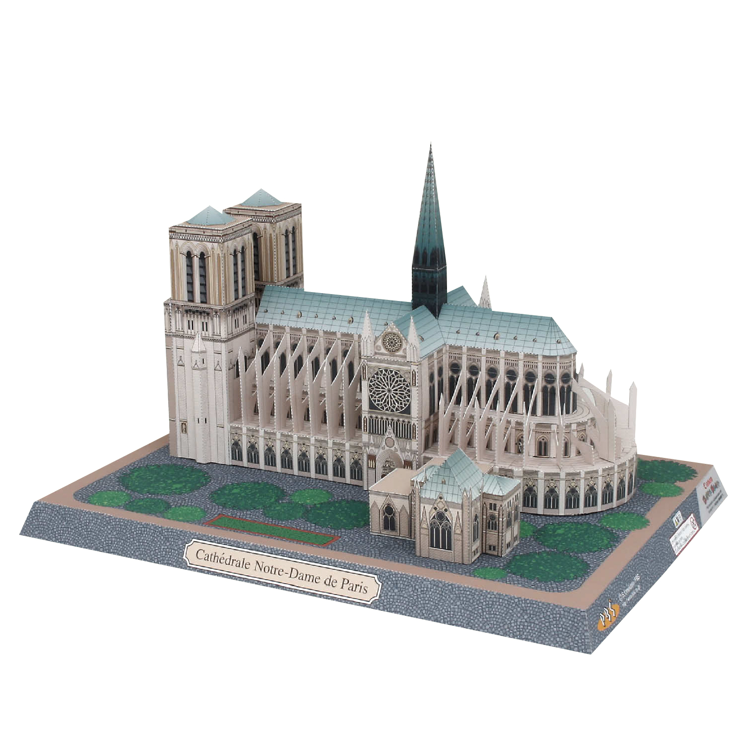 Notre-Dame De Paris, France Craft Paper Model Architecture 3D  DIY Education Toys Handmade Adult Puzzle Game