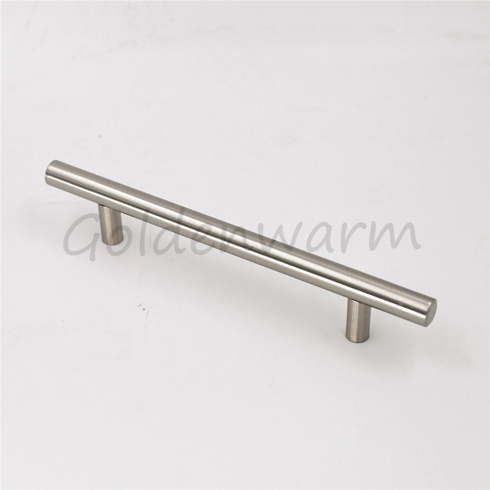 Goldenwarm Brushed Stainless Steel Kitchen Cabinet Handles Silver T Bar  Hole Centers 3 3/4 Inch Drawer Pulls 25Pieces In Cabinet Pulls From Home  Improvement ...