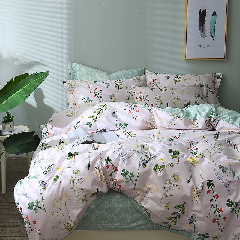 leaf print floral bedding set bed linen duvet cover kids adult brief style princess home textile bedclothes bedspread 40