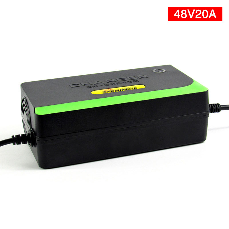 Wholesale 48V 20AH Lead Acid Battery Charger Electric Bicycle Bike Scooter Charger Power Supply 48V 2.3-2.45A With US/EU Plug