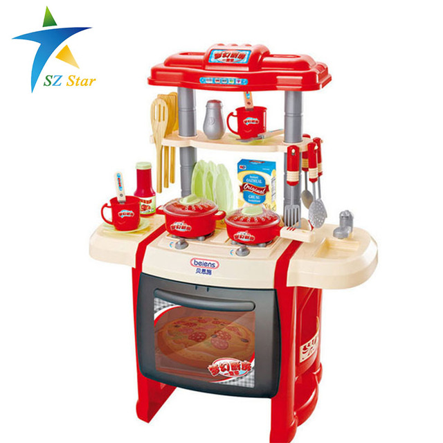 Simulation kitchen toys girls game playsets kitchen for for Kitchen set for babies