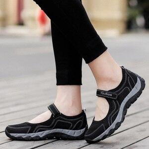 Image 5 - Yaz örgü ayakkabı kadın daireler ayakkabı nefes yürüyüş mokasen rahat ayakkabı kadın Tenis kaymaz moda spor ayakkabı Sapatos Feminino