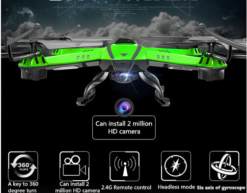 Free shipping 2016 Hot sell big Quadcopter 2.4G 4CH Headless