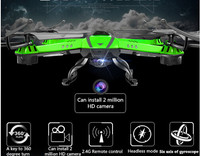 Free shipping 2016 Hot sell big Quadcopter 2.4G 4CH Headless Mode One Key Auto Return RC Drone can with 2.0 MP Camera than X5C