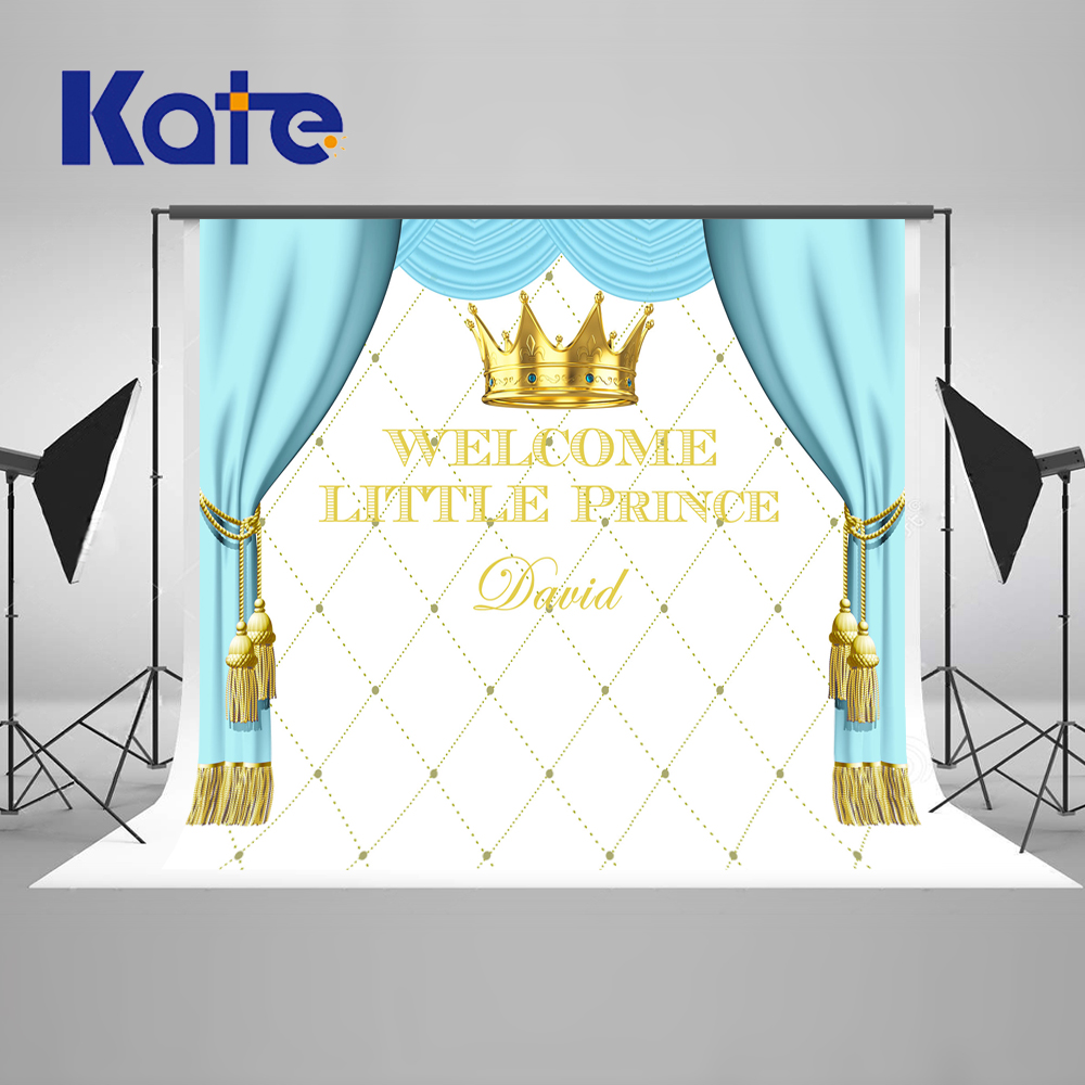 Kate Blue Curtain Children Happy Birthday  Photography Backdrops Princess Background Custom Made Boy Girl  Backgrounds spring background photography for kids photos green screen photography backdrops children photo props custom made backgrounds