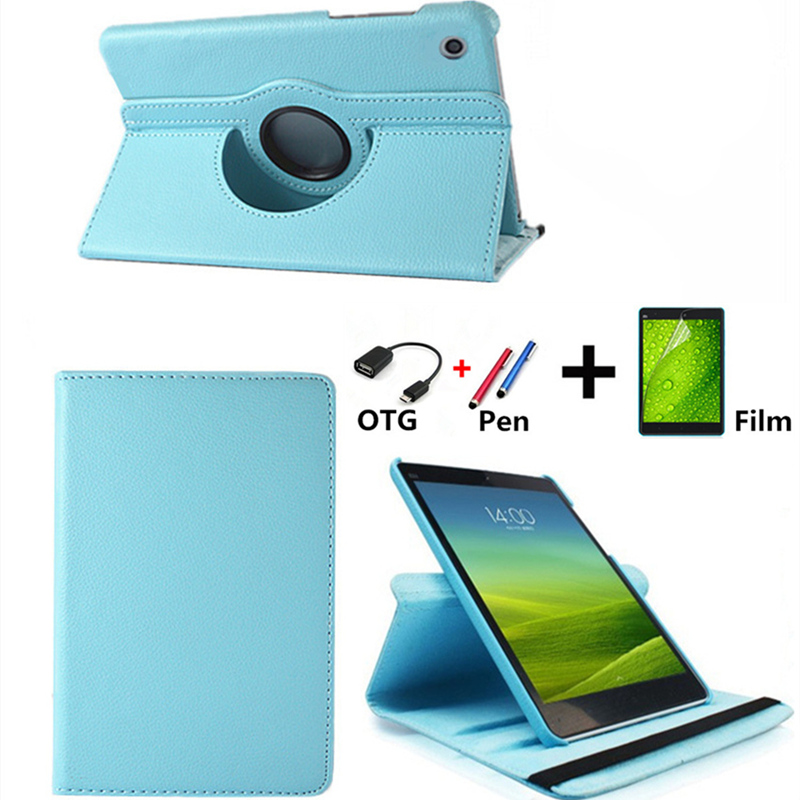 360 Rotating PU Leather Case For Huawei Mediapad T3 8.0 Honor Play Pad 2 KOB-L09 KOB-W09 Tablet Funda Cover+Free OTG+Film+Pen