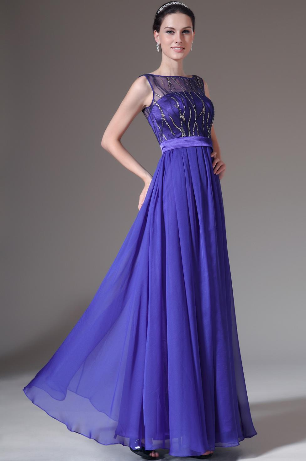 3.25 Sale Royal Blue Simple Elegant Evening Gown Gala Evening Gowns ...