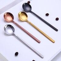 Mini Accessori Per Caffè Cucchiaio Da Cucina Dessertspoon Da Pranzo di Forma Rotonda di Caffè In Acciaio Inox Per La Casa-in Misurini da caffè da Casa e giardino su