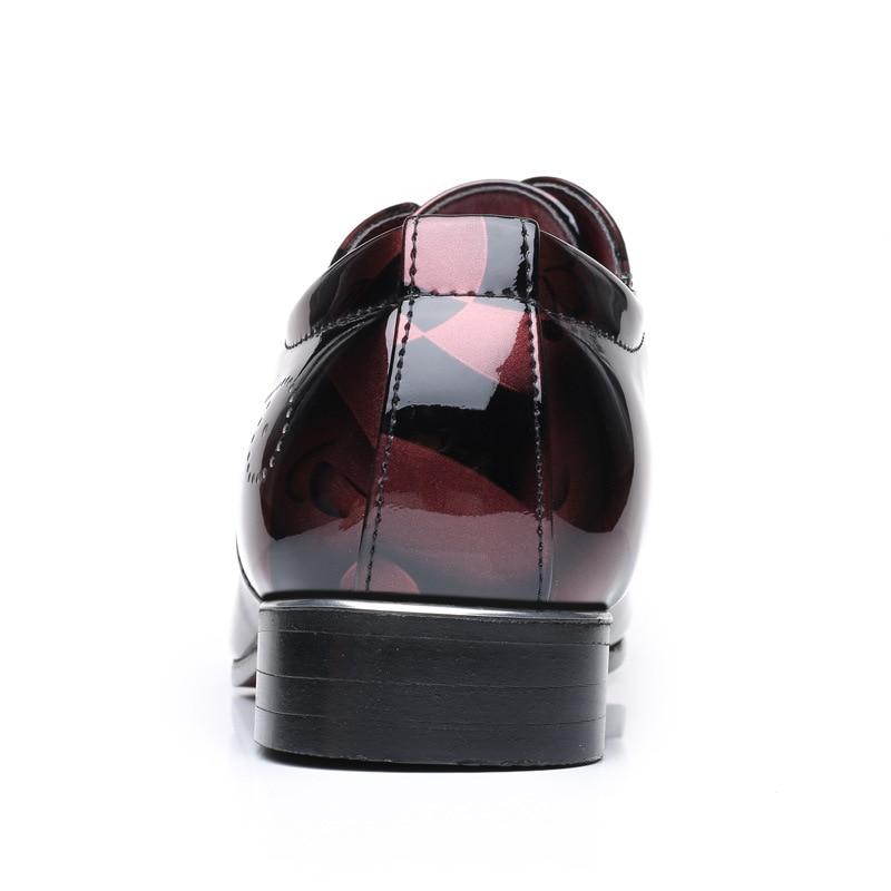 0c432613d Homem Blue Sapatos Top grey Designer Brilhante De Casual Vestir Vestido  Hombre Fashion Homens Lazer Formal Zapatos Britânico red Couro ...