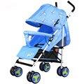 Nueva llegada del bebé cochecito plegable portable fácil carro de bebé sentarse y acostarse disponibles de cuatro ruedas carro de bebé a prueba de golpes