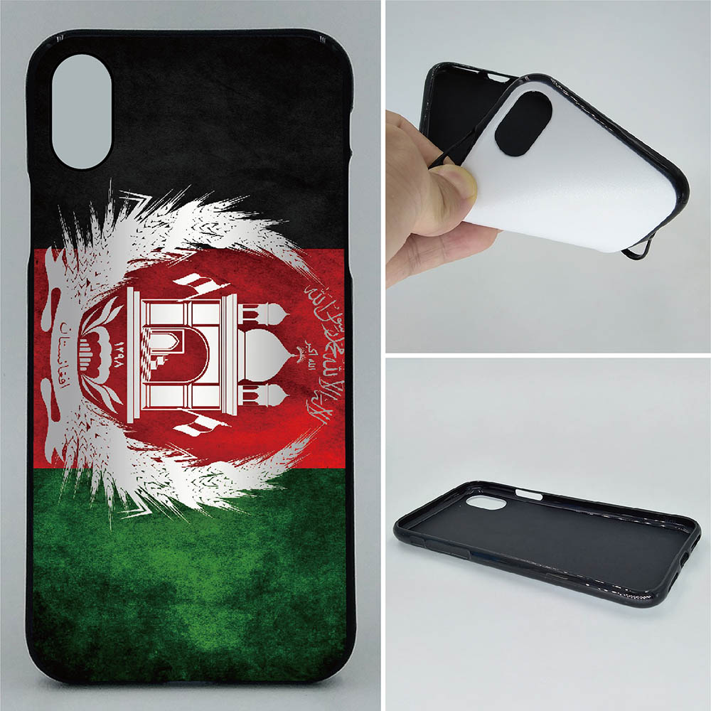 Phone Case For iPhone X XR XS Cases afghanistan flag 2D Paiting Back Silicon Cover For iPhone XS
