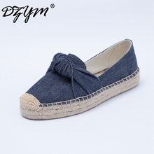 DZYM 2017 High Quality Bowtie Mocassins Canavs Women Flats Leisure Loafers  Zapatos Mujer Gingham Pattern Fishemen Shoes