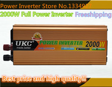 Envío gratis inversor 12 v 220 v 2000 w inversor de onda sinusoidal modificada inversor 50 hz/60 hz potencia inversor