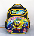 14inch Sponge bob children's kid's schoolbag girls child orthopedic bag backpack for  boys with many pocket preschool  backpacks