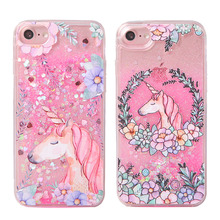 Sequined Pink Unicorn Phone Case for iPhone