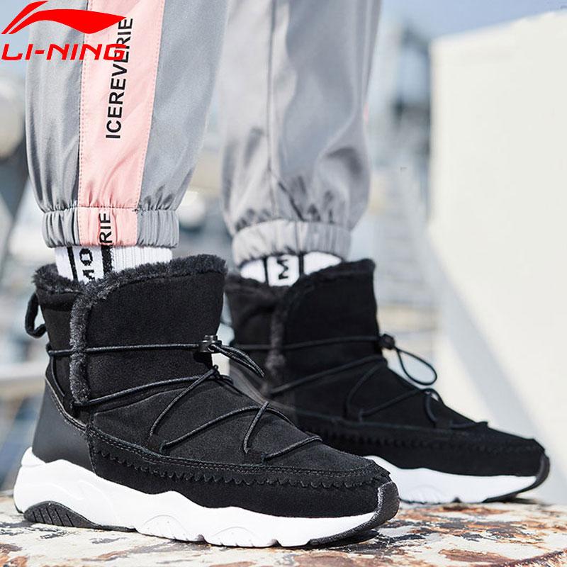 Li Ning Women LN SNOW BOOTS Warm Fleece Sneakers Classic Leisure LiNing Sport Winter Thick Lifestyle