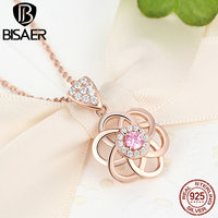 Vintage 925 Sterling Silver Choker Pendant Necklace Cupid Camellia Flower Love 18K Gold Plated Necklaces Pendants