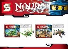 SY537 Ninjagoes Swordsman Spinjitzu Master Fit the Dragon Minifigure Bricks Building Block Compatible with Legoe Brick Toys
