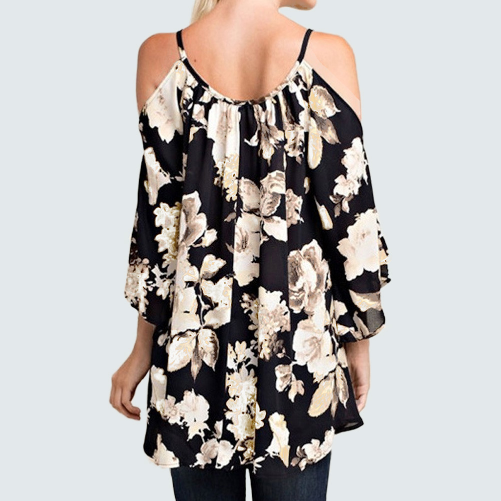 UK Plus SizeWomens Summer Boho Floral T-Shirts Blouse Beach Holiday Tee Tops