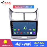 Android 8.0 2+32G 9 Inch 3G 4G WIFI Car Dvd Gps Player for Chevrolet SAil 2010 2013 built in Radio Video gps Bt support SWC RDS
