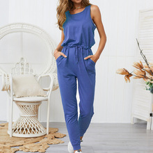 Sleeveless Long Jumpsuit